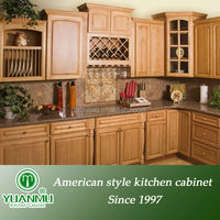 antique cherry wood china kitchen cabinets unit design with lazy susan corner cabinet