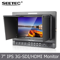 7 inch portable IPS panel 1280*800 pixels hd sdi video monitor steadicam for broadcasting