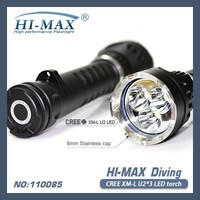 Trendy 3*XML2-U2 led magnetic switch diving primary flashlight