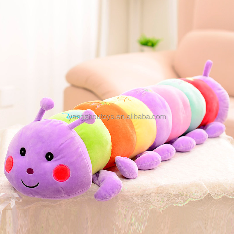 hot sale CE certificated factory manufacture caterpillar stuffed&soft toy