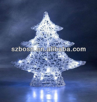 Acrylic christmas tree with LED lighting for decoration;christmas gift;christmas tree;