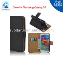 new 2014 Book Genuine Slim Leather Wallet Case for Samsung Galaxy S5