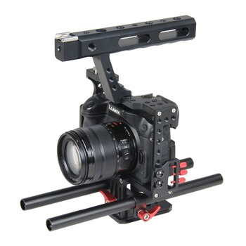YELANGU DSLR Aluminum Alloy Video Camera Cage for GH4 and A7 Series