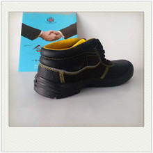 Brand new lightweight gas station work high-cut steel toe safety shoes made in China