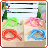 fancy soft flexible shape stationery pencil with eraser