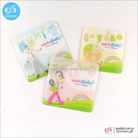 Promotional clear plastic pp coasters portable waterproof drink coasters