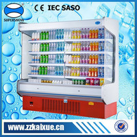 Front open vertical showcase refrigerator