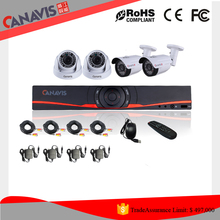 720p h.264 video surveillance security system camera and dvr kit set 4ch ahd cctv dvr kit