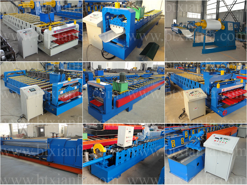 Double Layer Wave and Trapezoid Color Steel Roof Sheet Rolling Machine