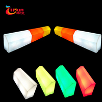 wholesale led light plastic curb stone road side pavement led Pavement Curbs led parking curb stone