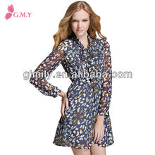 Summer chiffon casual printed floral dress shirt ever dress 2017