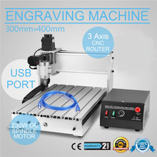 3040T-DQ WOOD ENGRAVER 300X400MM ENGRAVING CUTTER 3 AXIS USB CNC ROUTER MACHINE FOR CRAFTS