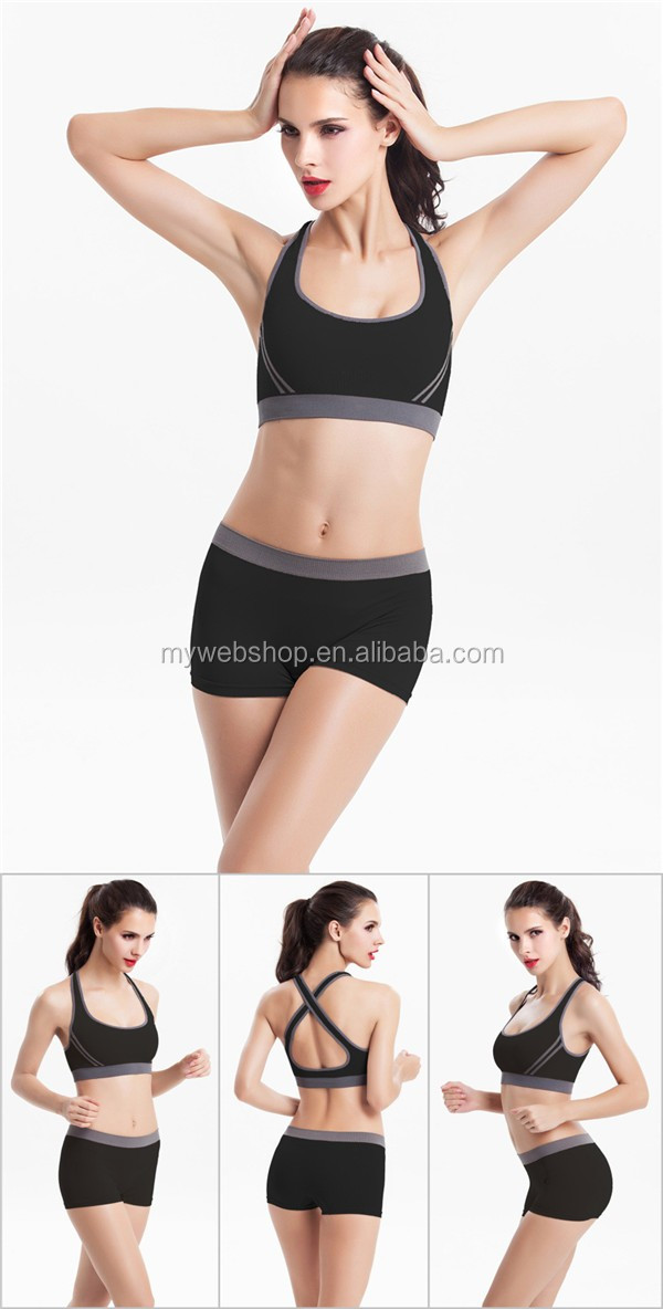 New Sports Bra Seamless Bralette Yoga Wear Padding Wireless Exercise Running Sets