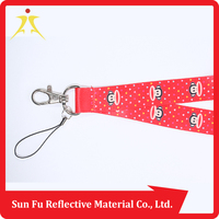 2016 Newest sublimation lanyard with metal keyring