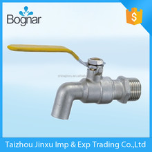 bibcock brass basin faucet waterfall bath brass ball valve taper wall mount bath faucet