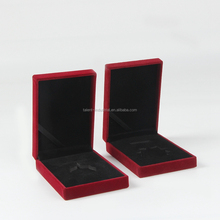 Red Customized Medal coin Display packaging box with velvet