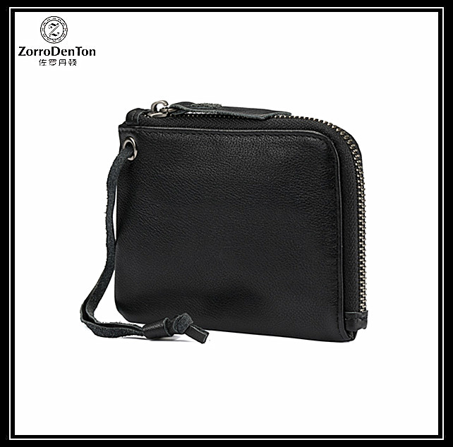 Genuine leather coin purses leather coin holder with card slots for women and men