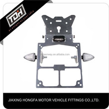 China manufacture Aluminum Alloy scooter license plate frames fit for univeral motorcycle