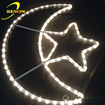 Big Crescent & Star LED Ramadan and Eid decoration