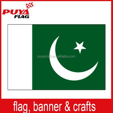 100% polyester printed country flag ,custom 3x5ft promotional Pakistan flag for national day