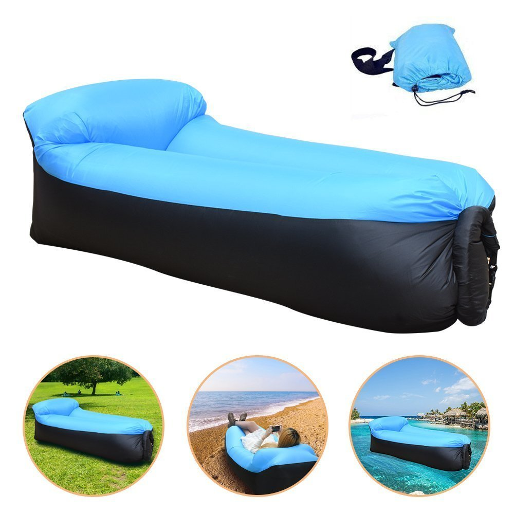 Various Colors Air Lounger Inflatable Bed Lazy Sleeping Bag