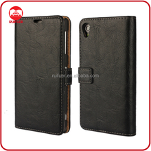 Manufacturer Mobile Phone Book Style Retro Vintage Leather Wallet Flip Back Cover Case for Sony Xperia Z1 Compact