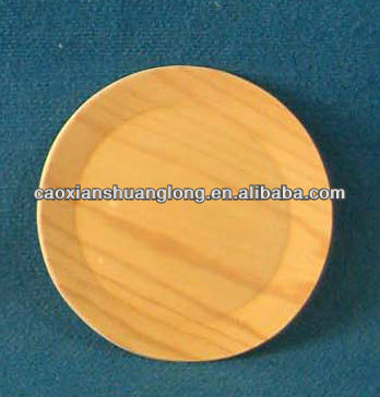 new hot & popular environmental unfinished round wooden sushi plates for sale promotion