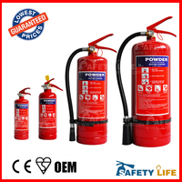 2kg dry powder fire extinguisher with steel rack