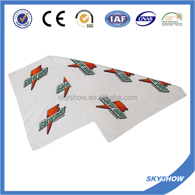 sports double side printing beach towel 100% cotton
