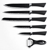 Gift Set 6pc Kitchen Knife Set with Super Sharp Knives with Carbon Steel Blades and Airflow Design