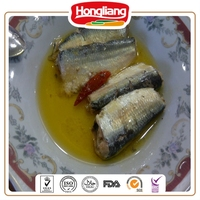 Wholesale Tin Sardine in Oil with Paper Chinese 125g Sardine Fish in Spicy Oil