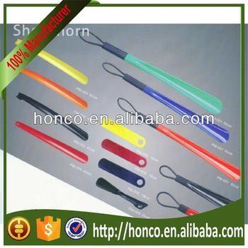 High quality pp plastic long shoe horn with various sizes