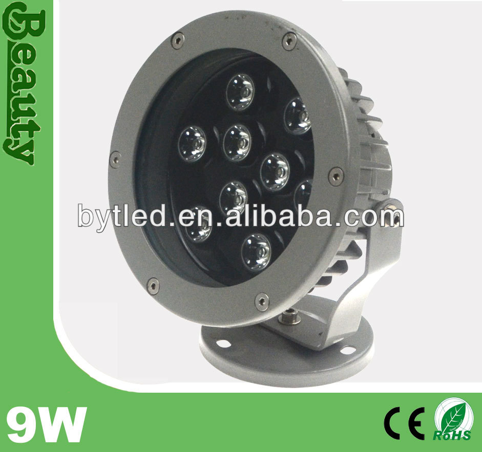 architecture IP65 rgb projector high quality 9w recessed led flood light(CE/ROHS)