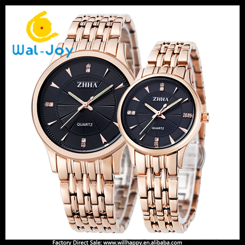 WJ-5813 stainless steel top brand ZHHA vogue water resistant couple watches