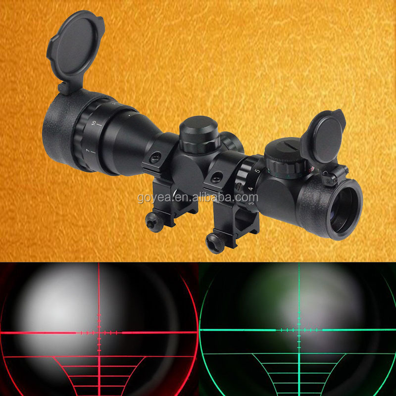 Hunting Riflescopes 2-6x32 Tactical Optics Airsoft Air Guns Rifle Scope Red/Green Dot Picatinny Reflex Air Soft Sight Scope