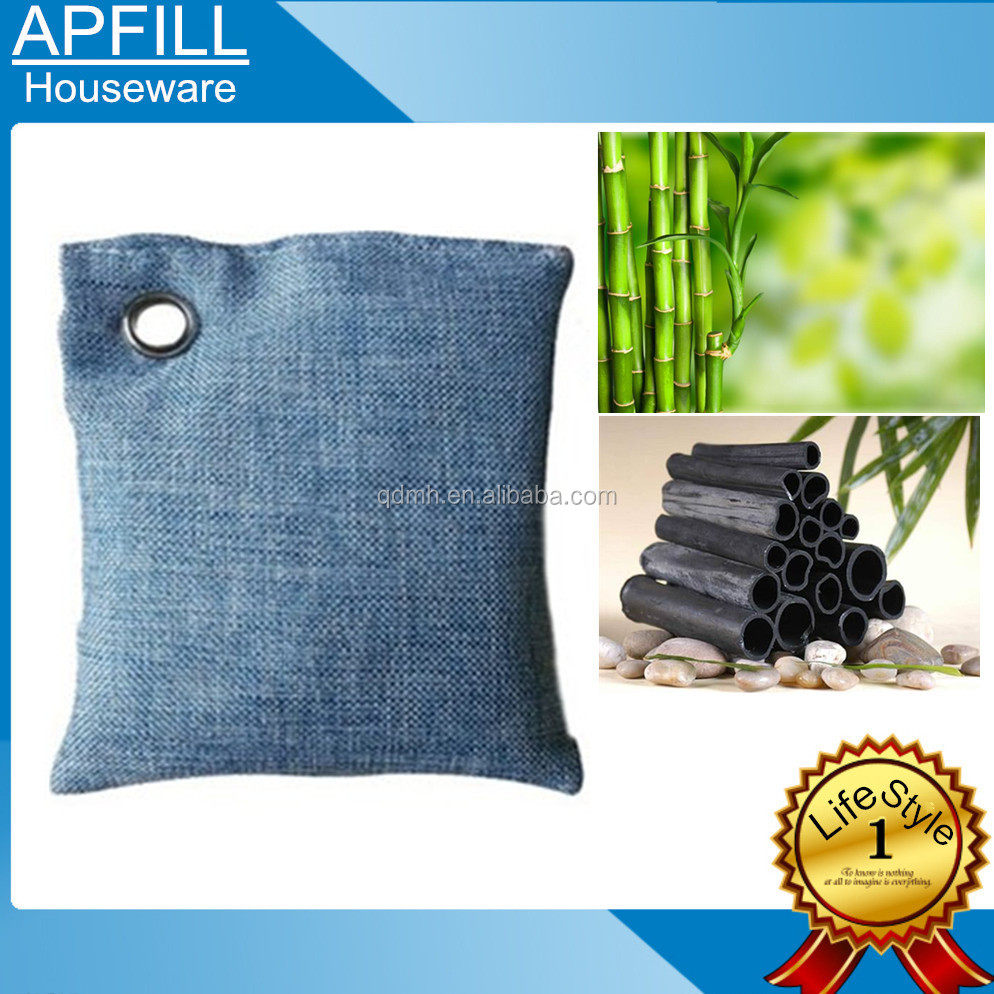 Bamboo Charcoal Air Purifying Bags use 100% nutural MOSO Bamboo Charcoal to Be Material