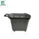 Plastic Grocery Storage Shopping Rolling Cart Lightweight Trolley Wheeled With Handle