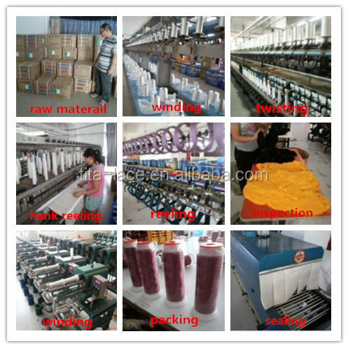 popular all color mult-head embroidery machine thread,120D/2