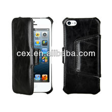 Vintage Folio Book Style Leather Case For iPhone 5