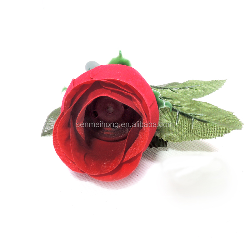 Manufacture artifical recording plastic red rose flower