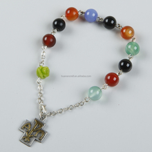 Hot New Products Jesus Cross 8MM stone wholesale stone bracelets