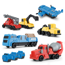 Rastar engineering plastic construction toy vehicle with six models in one package