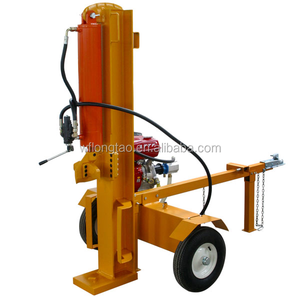 trailer mounted horizontal and vertical 26 ton log splitter with gasoline engine for sale