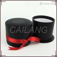 Handmade Recycle Gift Box Series of Red And Black Paper Tube Box With Inner