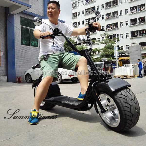 Sunnytimes 2017 New City Scooter Two Wheels Electric Motorcycle With Brake Function And 60V Lithium Battery