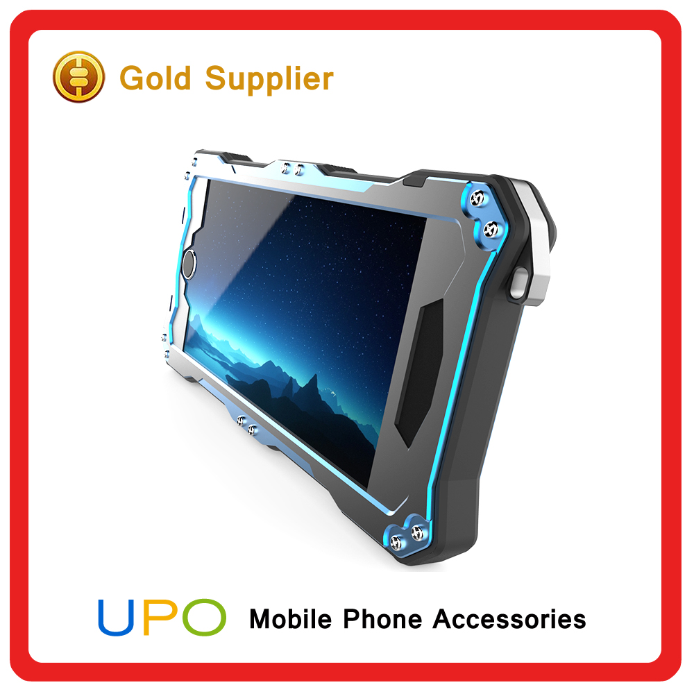 [UPO] Waterproof Shockproof Dustproof tough Gorilla Glass Aluminum Metal Case for iPhone 6 6s 6plus