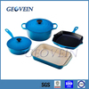 China supplier Quality pots and pans cast iron cookware french cast iron kitchen set