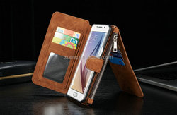 Slim fashion flip wallet case for samsung galaxy j7 with so many card slots