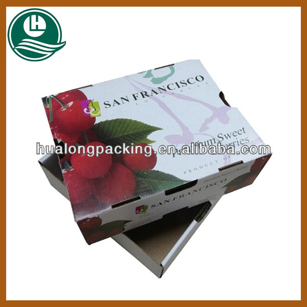 paper fruit packaging box for cherry