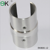 180 degree pipe glass handrail stainless steel connector hardware
